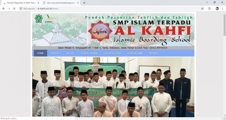 Website Sekolah Islam Al-Khafi : al-kahfi