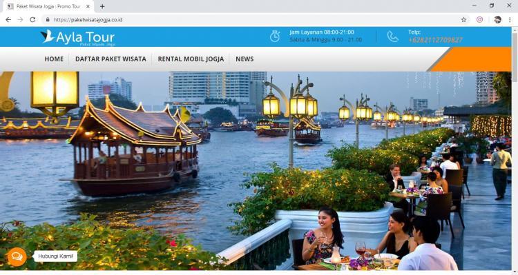 Website Paket Wisata : Ayla Tour