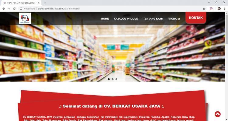 Website Usaha Pembuatan Rak Minimarket : Berkat Usaha Jaya