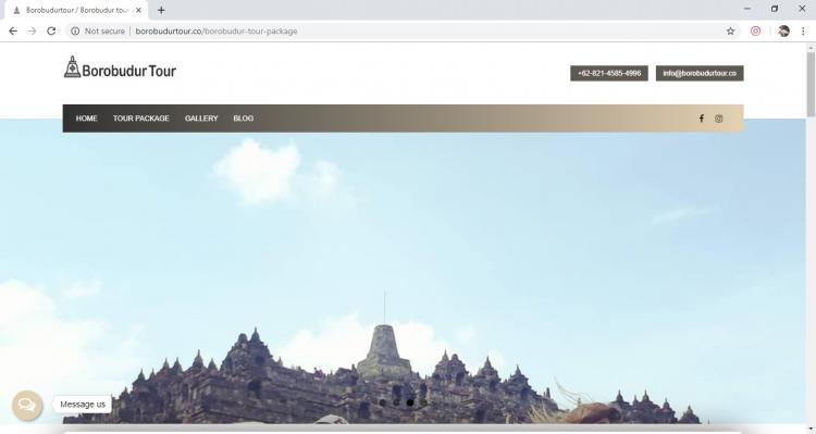 Website Jasa Tour : Borobudur Tour