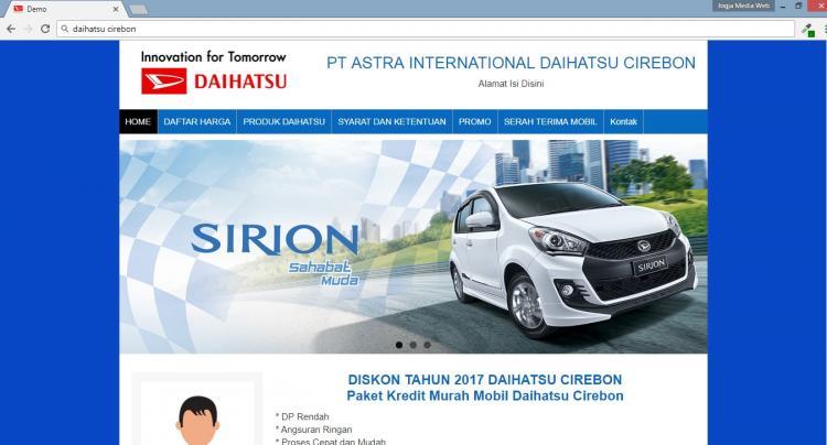 Website Merketing Penjualan Mobil : Daihatsu Cirebon