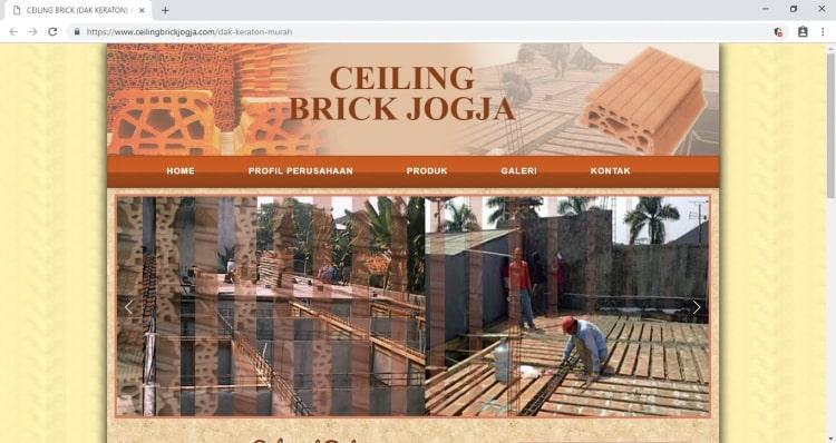 Penjualan Dak Keraton Jogja : Dak Keraton Jogja Ceiling Brick
