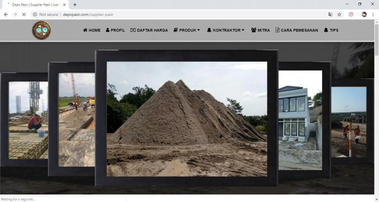 Website Usaha PenjualanPasir : Depo Pasir