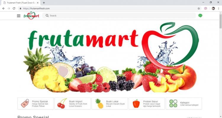 Website Pusat Grosir Buah Jogja  : FrutaMart Fresh