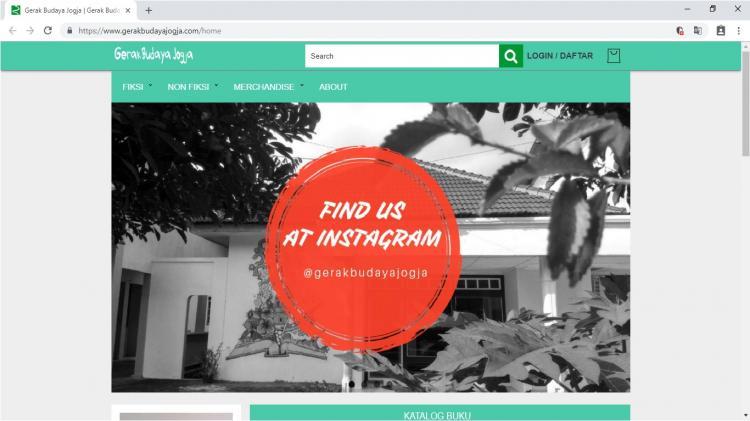 Website Toko Online Buku Terlengkap di Yogyakarta : Gerak Budaya Jogja