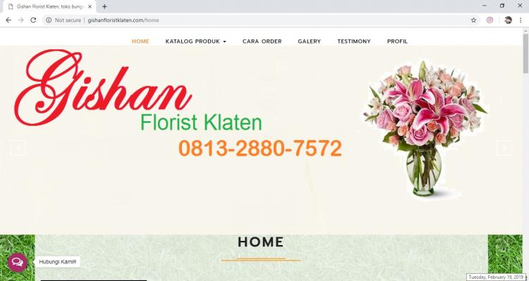 Website Jasa Karangan Bunga : Gishan Florist Klaten
