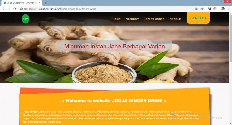 Website Jual Ginger Drink : Jogja Ginger Drink