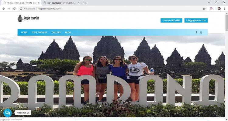Website Jasa Tour : Jogja Tourist