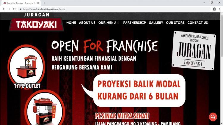 Website Usaha Franchise / Waralaba : Franchise Juragan Takoyaki