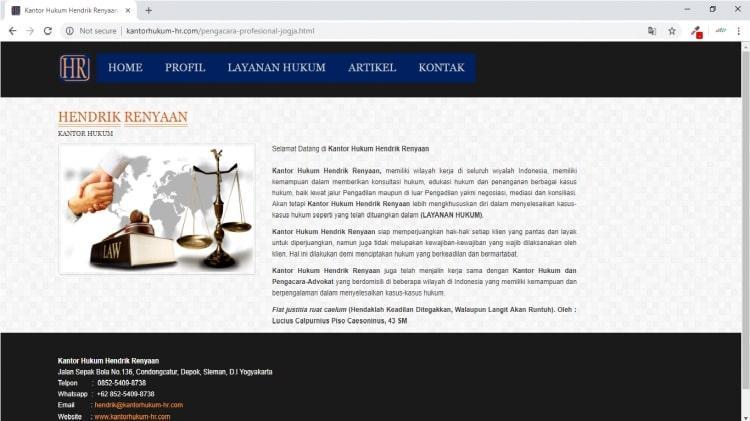 Kantor Pengacara Yogyakarta : Kantor Hukum Jogja : Kantor Hukum Hendrik Renyaan