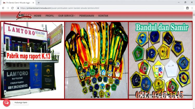 Website Penjualan Pin samir bandul wisuda Yogyakarta dan Sekitaranya : Lamtoro Bandul Wisuda dan Samir