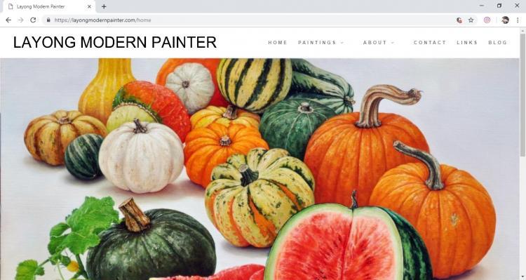 Website Seorang Seniman : Layong Modern Painter