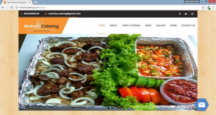 Portofolio Website Catering : Mahalia Catering
