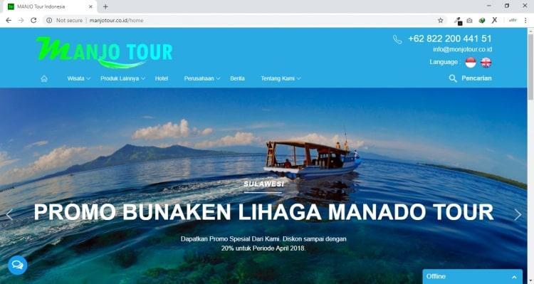Webisite Tour & Travel : Manjo Tour