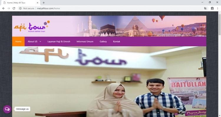Website Penyelenggara Haji dan Umroh : Melly Afi Tour