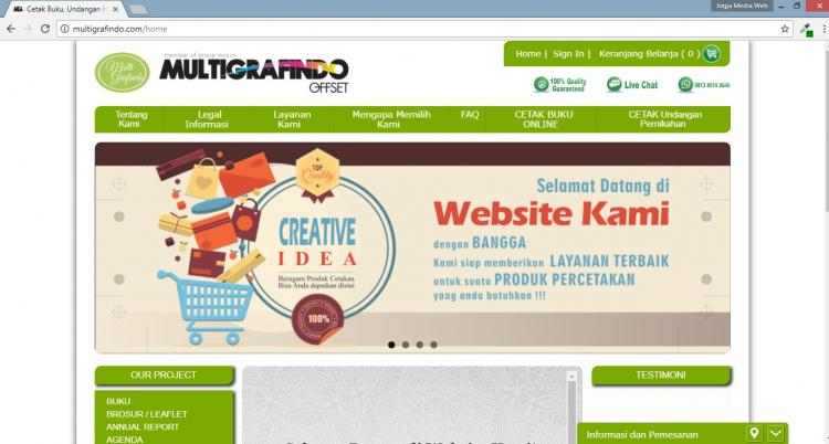 Website Percetakan Buku & Undangan : Multigrafindo Offset