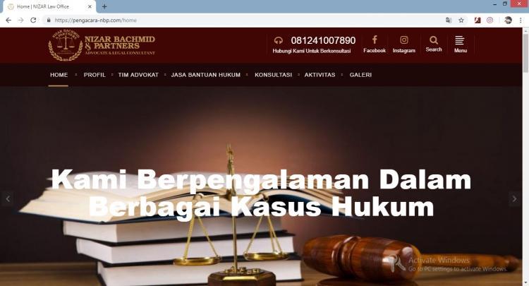 Website Jasa Pengacara : Nizar Bachmid & Partners