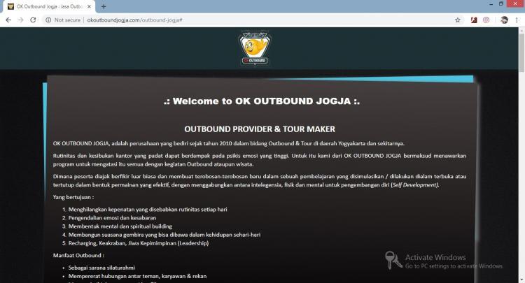 Website Jasa Outbound : Ok Outbound Jogja