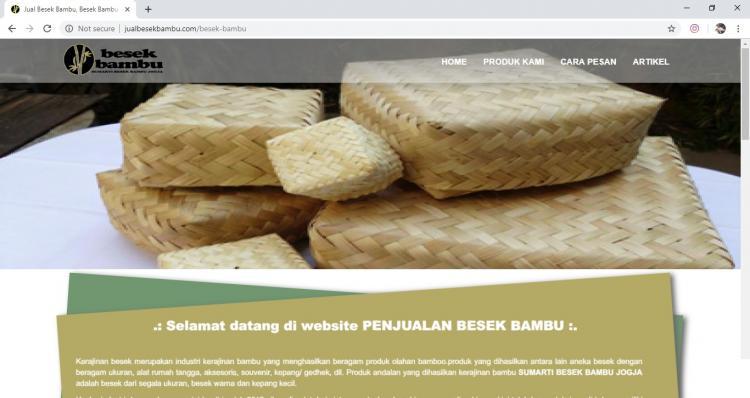 Website Usaha UMKM : PENJUALAN BESEK BAMBU | Jual Besek Bambu