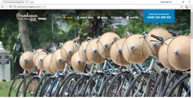 Website Wisata Alam Minat Khusus : Prambanan Village Tour