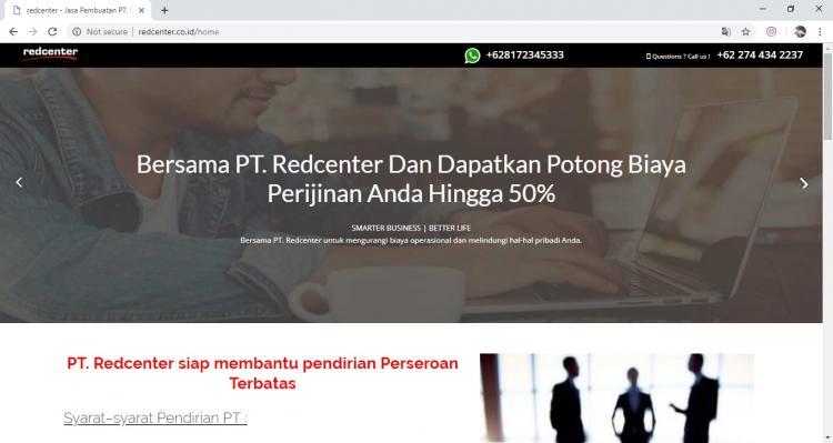 Website Jasa Pengurusan legalitas : Red Center
