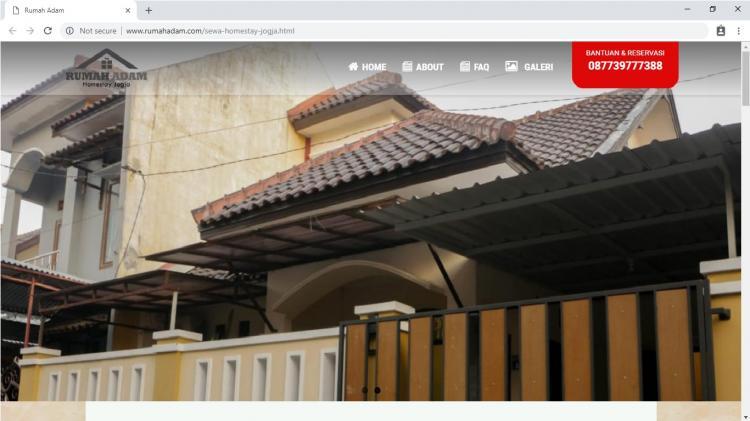 Website Persewaan Homestay Yogyakarta : Rumah Adam Homestay Jogja