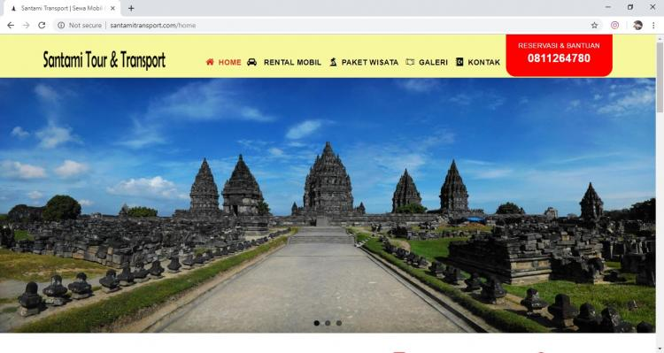 Website Jasa Rental Mobil : Santami Tour & Transport