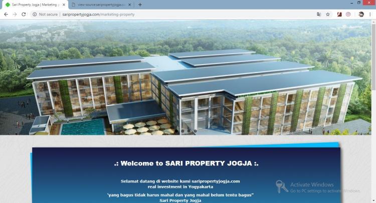 Website Jasa Property : Sari Property Jogja