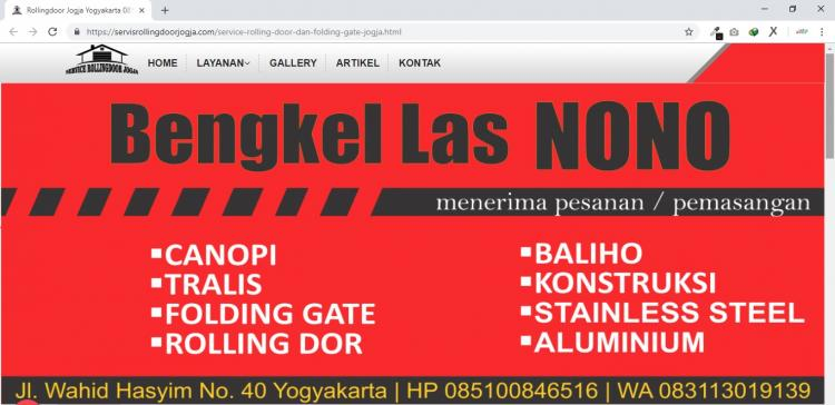 Jasa Service Rolling Dor dan Bengkel Las Yogyakarta : Service Rolling Dor Jogja