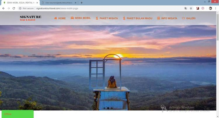 Website jasa sewa mobil & Pariwisata : Signature Tour & Travel
