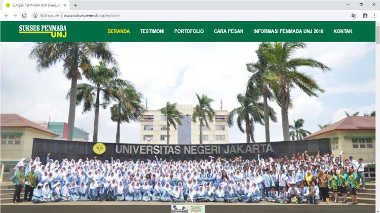 Website Informasi & Penjualan Buku  Penmaba Universitas Negeri Jakarta : Sukses Penmaba UNJ