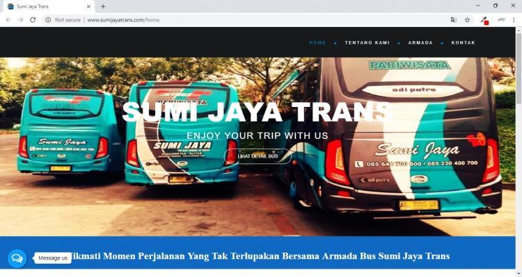 Website Persewaan Bus di Kota Blitar Jawa Timur : Sumi Jaya Trans