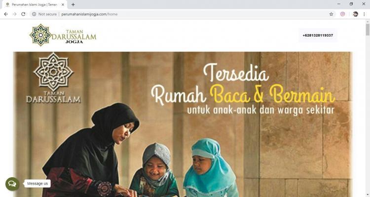 Website Perumahan Darussalam : Taman Darussalam Jogja