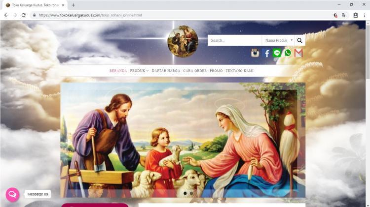 Toko Online Kristen Katolik Yogyakarta : Toko Keluarga Kudus Jogja