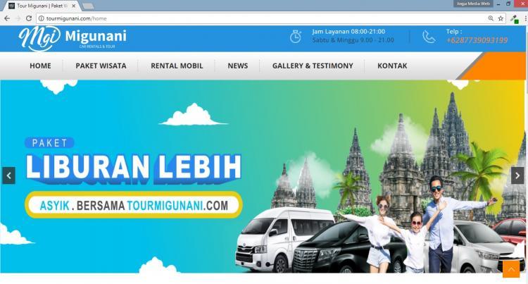 Website Tour Travel Yogyakarta  : Tour Migunani
